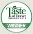 Winner - Taste of Dorset Awards 2015